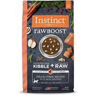 Instinct by Nature's Variety Raw Boost Grain-Free Recipe with Real Salmon Dry Cat Food, 4.5-lb bag