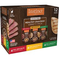 Instinct by Nature's Variety Healthy Cravings Grain-Free Recipe Variety Pack Wet Dog Food Topper, 3-oz pouch, case of 12