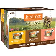 Instinct by Nature's Variety Original Grain-Free Recipe Variety Pack Wet Canned Cat Food, 3-oz, case of 12