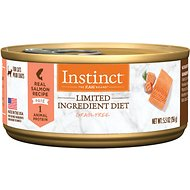 Instinct by Nature's Variety Limited Ingredient Diet Grain-Free Real Salmon Recipe Adult Canned Cat Food, 5.5-oz, case of 12