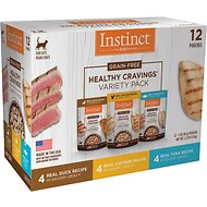 Instinct by Nature's Variety Healthy Cravings Grain-Free Recipe Variety Pack Wet Cat Food Topper, 3-oz pouch, case of 12