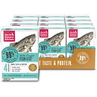 The Honest Kitchen Meal Booster 99% Salmon & Pollock Wet Dog Food Topper, 5.5-oz, case of 12