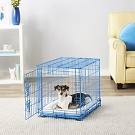 Frisco Fold & Carry Single Door Dog Crate, Blue, 24-in