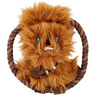 Fetch for Pets Star Wars Chewbacca Plush Rope Frisbee Dog Toy, 8-in