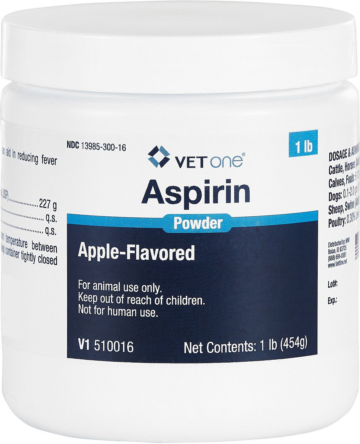 Aspirin Powder For Dogs And Horses Apple Flavor 1 Pound Chewy Com