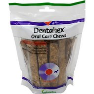 Vetoquinol Dentahex Oral Care Dog Dental Chews, 30 count, Petite & Small Breeds