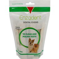 Vetoquinol Enzadent Oral Care Dog Dental Chews, 30 count, Petite & Small Breeds