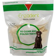 Vetoquinol Enzadent Oral Care Dog Dental Chews, 30 count, X-Large Breeds
