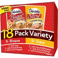 Hartz Delectables Stew & Bisque Variety Pack Lickable Cat Treats, case of 18