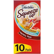 Hartz Delectables Squeeze Up Variety Pack Lickable Cat Treats, case of 10