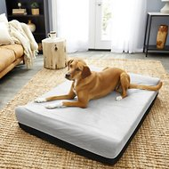 LaiFug Orthopedic Memory Foam Double Pillow Dog Bed, Slate Gray, Jumbo