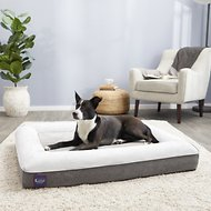 LaiFug Orthopedic Memory Foam Dog Bed, Slate Gray, Large
