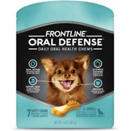 Frontline Oral Defense Daily Oral Health Chews for  Extra-Small Dogs, 5-10 lbs, 7 count