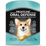 Frontline Oral Defense Daily Oral Health Chews for Small Dogs, 10-25 lbs, 7 count