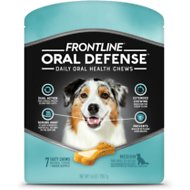 Frontline Oral Defense Daily Oral Health Chews for Medium Dogs 25-50 lbs, 7 count