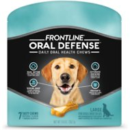 Frontline Oral Defense Daily Oral Health Chews for Large Dogs Over 50 lbs, 7 count