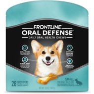 Frontline Oral Defense Daily Oral Health Chews for Small Dogs, 10-25 lbs, 28 count