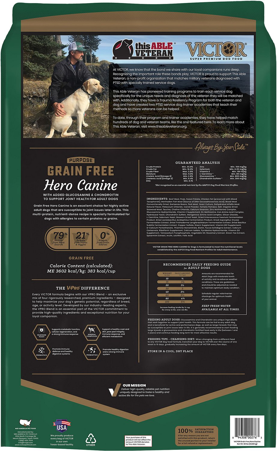 VICTOR Hero Grain-Free Dry Dog Food   Chewy (Free Shipping)