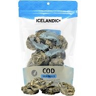 Icelandic+ Cod Skin Rolls Fish Dog Treat, 3.0-oz bag