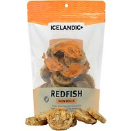Icelandic+ Redfish Skin Rolls Fish Dog Treat, 3.0-oz bag