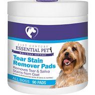 21st Century Essential Pet Tear Stain Remover Pads For Dogs, 90 count