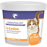 21st Century Essential Pet L-Lysine Amino Acid Support Soft Chews Cat Supplement, 100 count