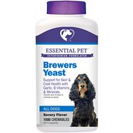 21st Century Essential Pet Brewers Yeast Chewable Tablets Dog Supplement, 1000 count