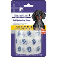 21st Century Essential Pet Self-Adhering Wrap Paw Print Dog & Cat Bandage, 1 count