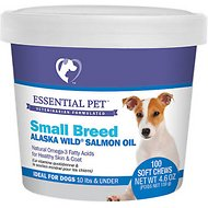 21st Century Essential Pet Small Breed Alaska Wild Salmon Oil Soft Dog Chews, 100 count