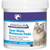 21st Century Essential Pet Tear Stain Remover Pads for Cats, 90 count