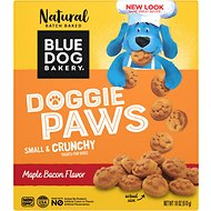 Blue Dog Bakery Doggie Paws Maple Bacon Dog Treats, 18-oz box