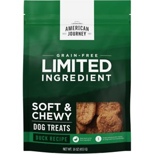 American Journey Limited Ingredient Grain-Free Duck Recipe Soft & Chewy Dog Treats, 16-oz bag