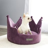 Nandog Crown Small Dog & Cat Bed, Purple