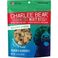 Charlee Bear Meaty Bites  Chicken & Blueberries Grain-Free Freeze-Dried Dog Treats, 2.5-oz bag