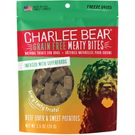 Charlee Bear Meaty Bites  Beef Liver & Sweet Potatoes Grain-Free Freeze-Dried Dog Treats, 2.5-oz bag