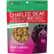 Charlee Bear Meaty Bites  Chicken & Cranberries Grain-Free Freeze-Dried Dog Treats, 2.5-oz bag