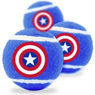 Buckle-Down Captain American Squeaky Tennis Ball Dog Toy, 3 pack