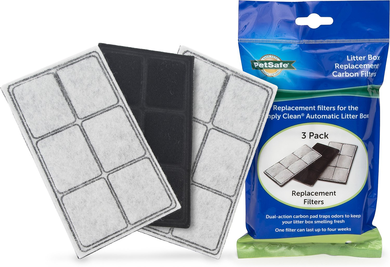 Petsafe Simply Clean Self Cleaning Litter Box Replacement Carbon Filters 3 Pack Chewy Com