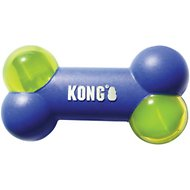 KONG Squeezz Action Bone Dog Toy, Blue, Large