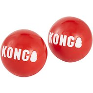 KONG Signature Balls Dog Toy, 2-pack, Red, Large