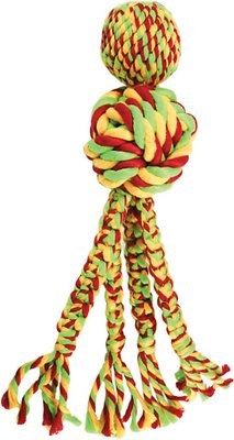 KONG Wubba Weaves with Rope Dog Toy, Color Varies