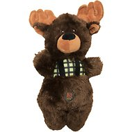 Charming Pet Lumber Jackerz Moose Dog Toy
