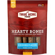 True Acre Foods Hearty Bones Long-Lasting Chicken Flavored Treats, 16-oz bag
