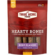 True Acre Foods Hearty Bones Long-Lasting Beef Flavored Treats, 16-oz bag
