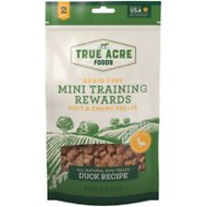 True Acre Foods Duck Recipe Mini-Training Rewards Grain-Free Soft & Chewy Dog Treats, 10-oz bag