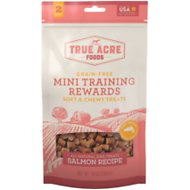 True Acre Foods Salmon Recipe Mini-Training Rewards Grain-Free Soft & Chewy Dog Treats, 10-oz bag