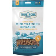True Acre Foods Chicken Recipe Mini-Training Rewards Grain-Free Soft & Chewy Dog Treats, 10-oz bag