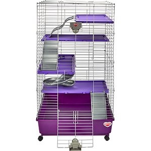 Kaytee Deluxe Multi-Level Ferret Home; Your ferret will have a ton of fun in his new Kaytee Deluxe Multi-Level Ferret Home! This purple cage measures 24\\\