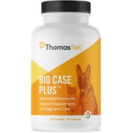 Thomas Labs Bio Case Plus Enzyme Therapy Dog & Cat Capsules, 180 count