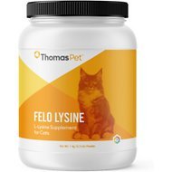 Thomas Labs Felo Lysine Powder Cat Supplement,, 2.2-lb jar